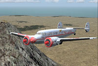 Screenshot of Union Airways Lockheed L-10 Electra in flight.