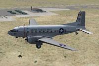 Screenshot of Douglas C-117D in flight.