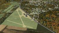 Aerial view of Pennsylvania airport scenery.