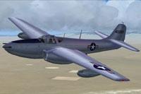 Screenshot of Bell P-59A in flight.