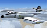 Screenshot of Alphasim CF-100 Canuck in flight.