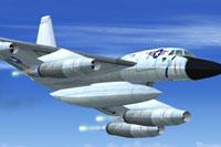 Screenshot of Convair B-58 Hustler in flight.