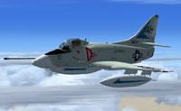 Screenshot of Douglas Skyhawk in flight.