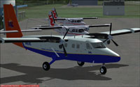 Screenshot of VAL DeHavilland Twin Otter on the ground.