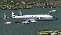 Screenshot of VARIG Airlines Lockheed Super G in flight.