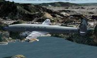 Screenshot of VARIG Airlines Lockheed Super G in flight.