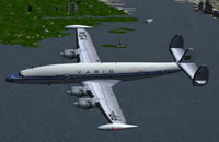 Screenshot of VARIG Airlines Lockheed Super H in flight.