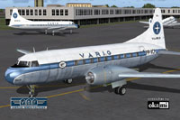 Screenshot of VARIG Convair CV-240 on the ground (front left).