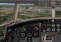 Screenshot of VARIG Curtiss C-46 cockpit.