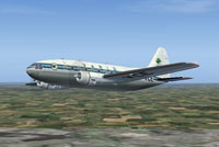 Screenshot of VARIG Curtiss C-46 in flight.