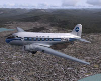 Screenshot of VARIG Douglas DC-3 in flight.