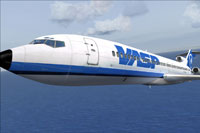 Screenshot of VASP Boeing 727-200 in flight.
