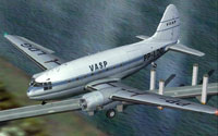 Screenshot of VASP Curtiss C-46A Commando in flight.