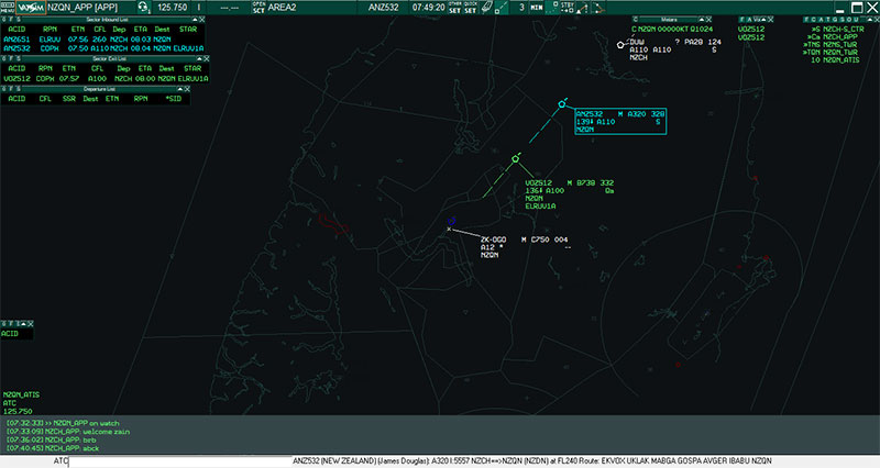 Screenshot from VATSIM ATC.