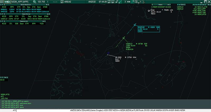 Screenshot from VATSIM ATC.