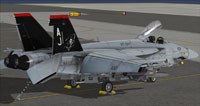 """Screenshot of VF-101 CO """"Grim Reapers"""" on the ground."""