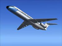 Screenshot of VIP Douglas C-9 in the air.