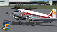 Screenshot of VNAF Douglas C-47 Skytrain Transport on the ground.