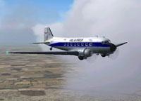 Screenshot of Val-U-Prop Douglas DC-3 in flight.