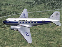 Screenshot of Val-U-Prop Douglas DC-3 in flight.