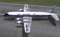 Screenshot of Val-U-Prop Douglas DC-6B taxiing to runway.
