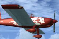 Screenshot of Vans RV-8 N64PR in flight.