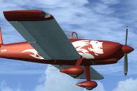 Screenshot of Vans RV-8 N64PR in flight.