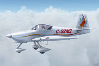 Screenshot of Vans RV7A C-GZMZ in flight.