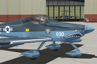 Screenshot of navy blue Vans RV7A on the ground.