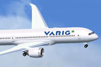 Screenshot of Varig Boeing 787-8 in flight.