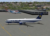 Screenshot of Varig Brasil Boeing 767-300 on the ground.