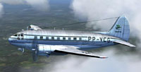 Screenshot of Varig Curtiss C-46 Commando in flight.