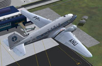 Screenshot of Varig Douglas DC-3 shortly after take-off.