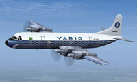 Screenshot of Varig Lockheed Electra in flight.