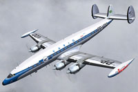 Screenshot of Varig Lockheed L-1049G in flight.