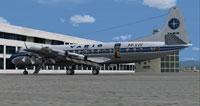 Screenshot of Varig Lockheed L-188 on the ground.