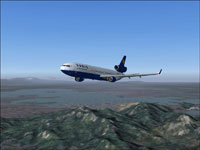 Screenshot of Varig McDonnell Douglas MD-11 in flight.