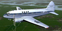 Screenshot of Vasp Curtiss C-46 Commando in flight.