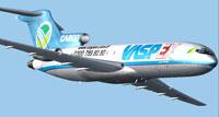 Screenshot of VaspEx Boeing 727-200 in flight.