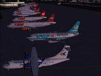 Screenshot of Vaspex Boeing 737-200 on the ground.