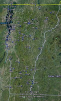 Overview of Vermont Airfields.
