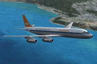 Screenshot of Viasa Douglas DC-8-32 in flight.