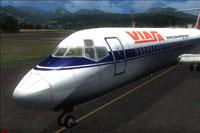 Screenshot of Viasa Douglas DC-9-30 on runway.