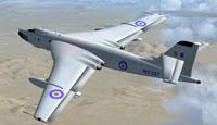 Screenshot of Vickers Valiant in flight.