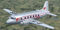 Screenshot of Vickers Viking G-AHOS in flight.