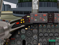Screenshot of Viscount 700 cockpit panel.