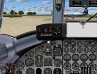 Screenshot of Viscount 800 cockpit panel.