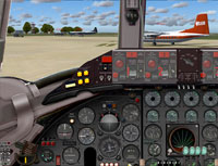 Screenshot of Viscount 810 cockpit panel.