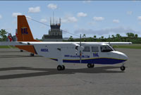 Screenshot of Vieques Air Link BN-2B-26 Islander on the ground.