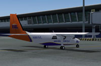 Screenshot of Vieques Air Link Islander on the ground.